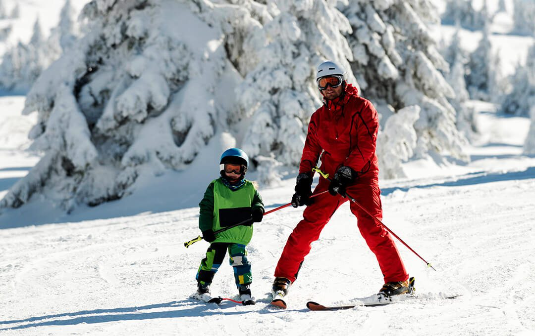 Ski Bonding with Father